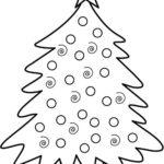 Sagome di alberi di Natale da disegnare e ritagliare
